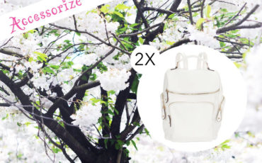 WIN ACCESSORIZE WHITE BACKPACK!
