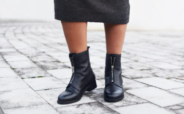 THE GIRL WITH ANOTHER PAIR OF (ZIPPER) BOOTS