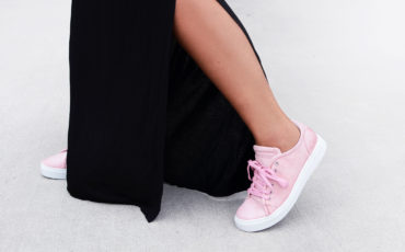 A NEW OBSESSION, PINK SNEAKERS
