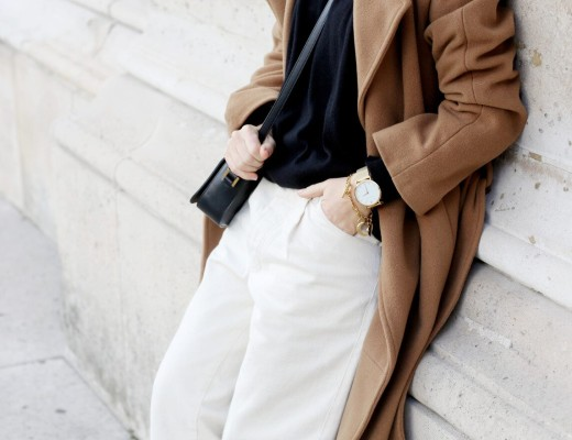 fall coat, camel coat