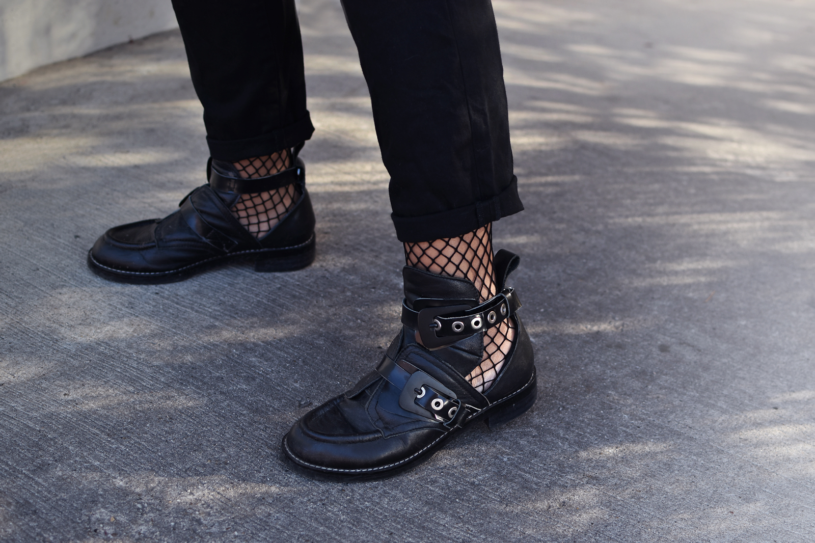 ON THE STREET, FISHNET SOCKS