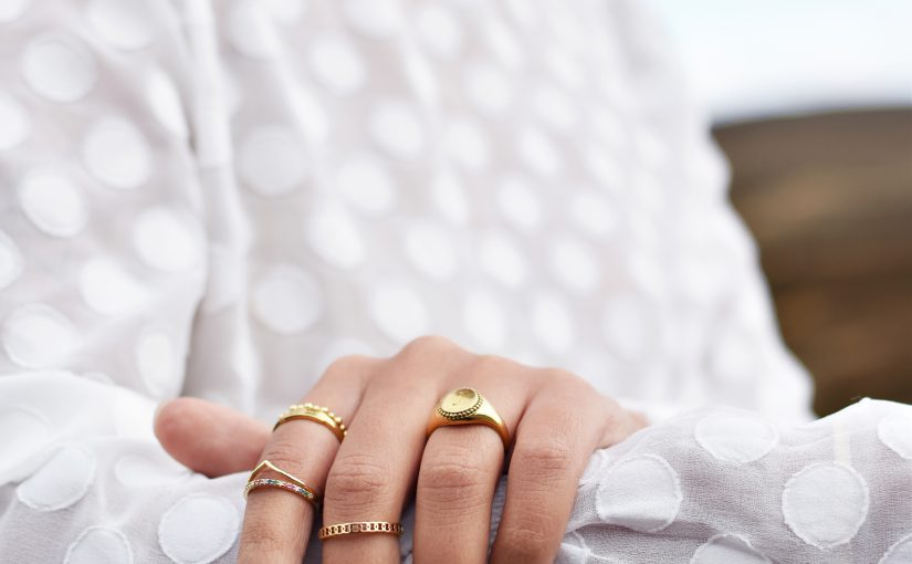 gouden ring, my jewellery. golden rings